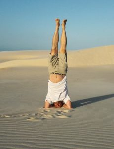 Head Stand on Dunes